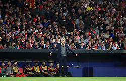 Arsenal manager Arsene Wenger gestures on the touchline during the UEFA Europa League, Semi Final, Second Leg at Wanda Metropolitano, Madrid.