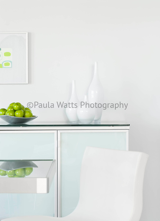 Modern and clean dining room detail
