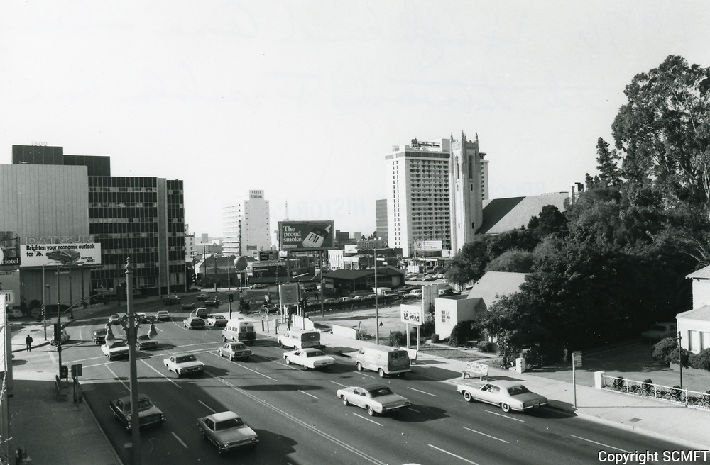 1976 Looking south Highland Ave. from Franklin Ave.