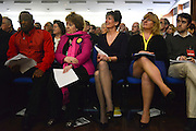 © Licensed to London News Pictures. 23/03/2013. Exeter, UK(Left to right) Winston Mackenzie, Margot Parker, Diane James.  The UK Independence Party (UKIP) 2013 Spring Conference is held at the Great Hall, Exeter University today, Saturday 23rd March 2013. Support for the party is rising after success in the recent Eastleigh by-election, where UKIP came second behind the Liberal Democrats. Photo credit : Stephen Simpson/LNP