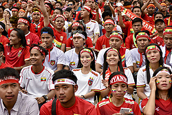 August 26, 2017 - Kuala Lumpur, MALAYSIA - Myanmar supporters react during the he Men's football Semi-Final Match of the 29th Southeast Asian Games in Kuala Lumpur, Malaysia on August 26, 2017 (Credit Image: © Chris Jung via ZUMA Wire)