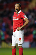 Jordan Cousins of Charlton Athletic looks on . Skybet football league championship match, Charlton Athletic v Nottingham Forest at The Valley  in London on Saturday 2nd January 2016.<br /> pic by John Patrick Fletcher, Andrew Orchard sports photography.