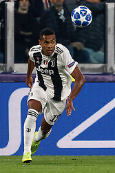 November 7, 2018 - Turin, Italy - Alex Sandro of Juventus in action during the Group H match of the UEFA Champions League between Juventus FC and Manchester United FC on November 7, 2018 at Juventus Stadium in Turin, Italy. (Credit Image: © Mike Kireev/NurPhoto via ZUMA Press)