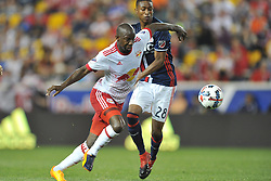 May 27, 2017 - Harrison, New Jersey, U.S - New York Red Bulls forward BRADLEY WRIGHT-PHILLIPS (99) and New England Revolution defender LONDON WOODBERRY (28) in action at Red Bull Arena in Harrison New Jersey New York defeats New England 2 to 1 (Credit Image: © Brooks Von Arx via ZUMA Wire)