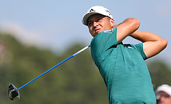September 20, 2018 - Atlanta, Georgia, United States - Xander Schauffele tees off the 16th hole during the first round of the 2018 TOUR Championship. (Credit Image: © Debby Wong/ZUMA Wire)