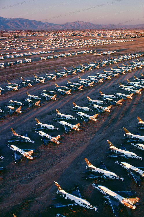 Ghost Squadron Fighter bombs in storage facility inTucson retired in desert to preserve the planes and protect against humidity