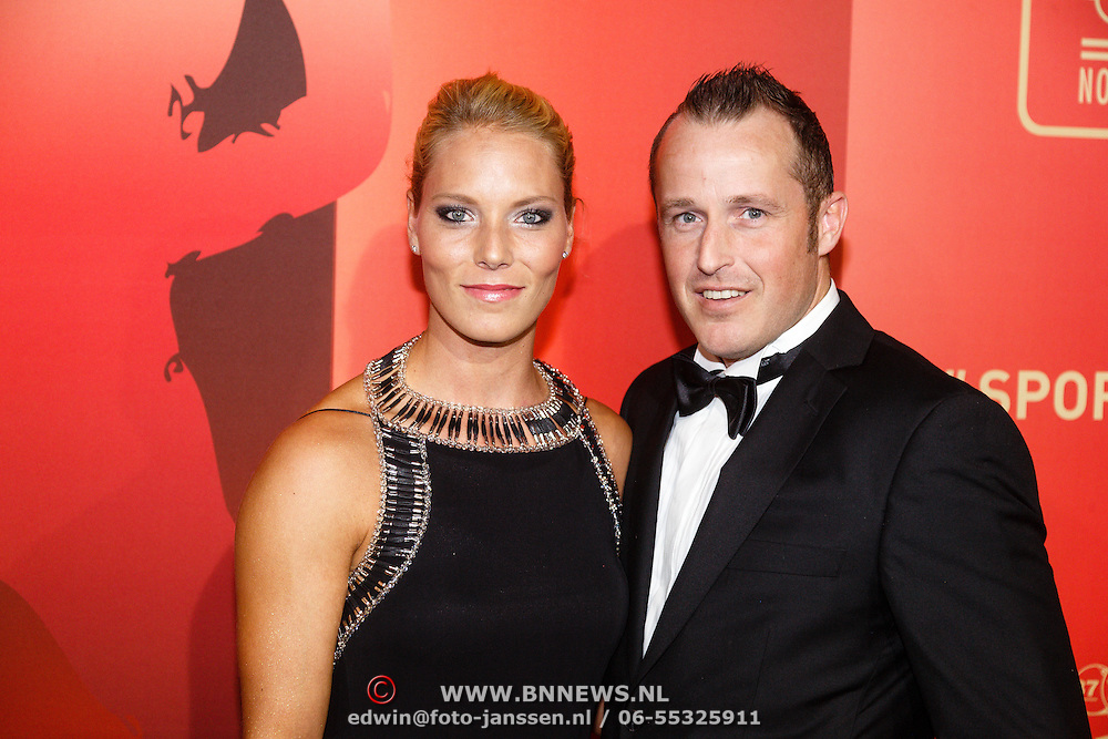 NLD/Amsterdam/20151215 - NOC / NSF Sportgala 2015, Nadine Broersen en partner