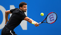 Bulgaria's Grigor Dimitrov in action against Spain's Feliciano Lopez during day six of the 2017 AEGON Championships at The Queen's Club, London.