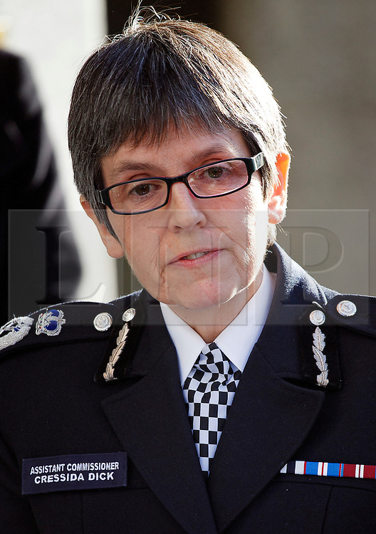 © Licensed to London News Pictures. FILE PICTURE:19/12/2013. Former assistant Commissioner Cressida Dick giving a statement to media after the court found Michael Adebolajo and Michael Adebowale guilty of the murder of soldier Lee Rigby in Woolwich. The Met Police has appointed it's first female chief Cressida Dick. Photo credit: Tolga Akmen/LNP