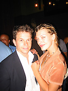 Mark Wahlberg & Milla Jovovich.Man Ray Restaurant Opening Party.Man Ray Restaurant.New York,  NY .July 11, 2001.Photo by Celebrityvibe.com..