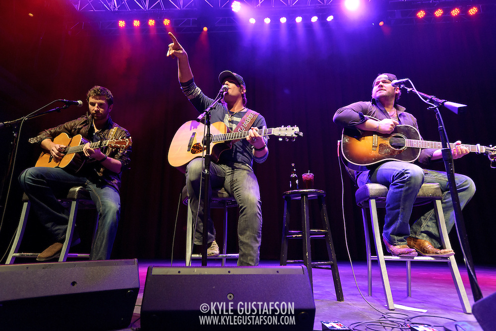 SILVER SPRING, MD- February 7th, 2013 - Brett Eldredge, Jerrod Niemann and Lee Brice perform at the 98.7 WMZQ I Heart Country Concert benefitting the American Heart Association at the Fillmore Silver Spring in Silver Spring, MD.  The show also featured a performance from Kelleigh Bannen. ( Photo by Kyle Gustafson/For The Washington Post)