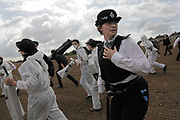 The police is both out numbered and out-paced by the activists and fail to stop them continue their march in spite of making attempts of stopping them.<br /> <br /> Crude Oil Awakening is a coalition of climate change activist groups. On Saturday Oct 16 they shut the only entrance to Coryton oil refinery in Essex, UK with the aim of highlighting the issues of climate change and the burning of fossil fuels. The blockade meant that a great number of trucks with oil were not able to leave the refinary during the day of action.
