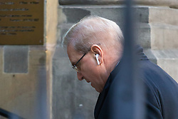 Property search millionaire Giles MacKay arrives at City of London Crown Court to face charges of holding house parties that breached a council notice to keep noise down. London, December 04 2018.