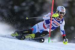 06.01.2014, Stelvio, Bormio, ITA, FIS Weltcup Ski Alpin, Bormio, Slalom, Herren, im Bild Markus Vogel // Markus Vogel  in action during mens Slalom of the Bormio FIS Ski World Cup at the Stelvio in Bormio, Italy on 2014/01/06. EXPA Pictures © 2014, PhotoCredit: EXPA/ Sammy Minkoff<br /> <br /> *****ATTENTION - OUT of GER*****