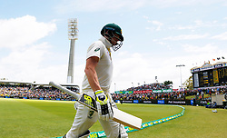 Australia's Steve Smith walks off after being dismissed during day four of the Ashes Test match at the WACA Ground, Perth.