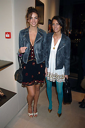 Left to right, sisters ROSE HANBURY and MARINA HANBURY  at a party at shoe store Sergio Rossi, 207 Sloane Street, London on 4th April 2007.<br /><br />NON EXCLUSIVE - WORLD RIGHTS