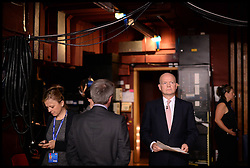 Image ©Licensed to i-Images Picture Agency. 28/09/2014. Birmingham, United Kingdom.  William Hague backstage before delivering his last conference speech on  Day one of the  Conservative Party Conference.Picture by Andrew Parsons / i-Images