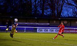 BANGOR, WALES - Tuesday, November 20, 2018: Wales' Christian Norton shoots during the UEFA Under-19 Championship 2019 Qualifying Group 4 match between Wales and San Marino at the Nantporth Stadium. (Pic by Paul Greenwood/Propaganda)