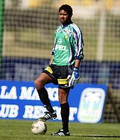 Fotball, La Manga, Spania. 23. februar 2002. Lillestrøm-AIK.  Emille Baron, Lillestrøm.