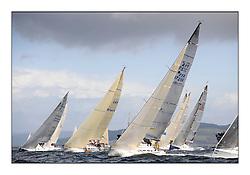 Brewin Dolphin Scottish Series 2011, Tarbert Loch Fyne - Yachting - Day 2 of the 4 day series. Windy!..FRA37296, Salamander Team Sunbird, Chris Dodgshon, Fairlie YC  at Class 3 start.