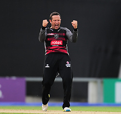 Roelof Van Der Merwe of Somerset celebrates the wicket of Adam Wheater.  - Mandatory by-line: Alex Davidson/JMP - 02/08/2016 - CRICKET - The Ageas Bowl - Southampton, United Kingdom - Hampshire v Somerset - Royal London One Day