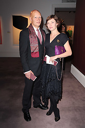 CAMILLA RUTHERFORD and DOMINIC BURNS at the Krug Mindshare auction held at Sotheby's, New Bond Street, London on 1st November 2010.