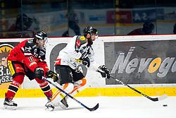 11.12.2015, Ice Rink, Znojmo, CZE, EBEL, HC Orli Znojmo vs Dornbirner Eishockey Club, 29. Runde, im Bild v.l. Branislav Rehus (HC Orli Znojmo) Nicolas Petrik (Dornbirner) // during the Erste Bank Icehockey League 29th round match between HC Orli Znojmo andDornbirner Eishockey Club at the Ice Rink in Znojmo, Czech Republic on 2015/12/11. EXPA Pictures © 2015, PhotoCredit: EXPA/ Rostislav Pfeffer
