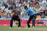 Phil Salt of Sussex batting during the Vitality T20 Finals Day semi final 2018 match between Sussex Sharks and Somerset County Cricket Club at Edgbaston, Birmingham, United Kingdom on 15 September 2018.