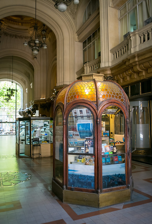 BUENOS AIRES - CIRCA NOVEMBER 2012: View of the interior of Palacio Barolo, Circa November 2012. The building is landmark on the city, located in Avenida de Mayo when it was built was the tallest building in city and South America.