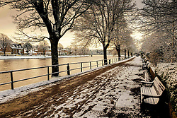 Ness Walk, Inverness, Scotland with a dusting of snow in winter.<br /> <br /> (c) Andrew Wilson | Edinburgh Elite media