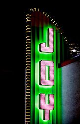 30 Jan 2013. New Orleans, Louisiana USA. .JOY. The art deco Joy Theatre on Canal Street, not far from the New Orleans Superdome. The City is experiencing Joy overload as Mardi Gras clashes with Super Bowl as the NFL brings the big game to town. .Photo; Charlie Varley