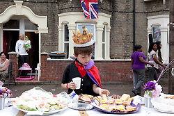 LOCATION, UK  29/04/2011. The Royal Wedding of HRH Prince William to Kate Middleton.East London Street Parties..Photographer Andrew Baker/LNP.