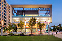 River Center Branch Library overlooks North Boulevard Town Square in downtown Baton Rouge, La. The four-story structure has dedicated spaces for children, teens and adults.
