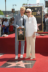Ellen DeGeneres and mom Betty DeGeneres. 4 September 2012, Hollywood, California. Ellen DeGeneres Honored With Star On The Hollywood Walk Of Fame. Photo Credit: Giulio Marcocchi/Sipa USA.
