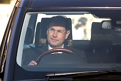 The Earl of Wessex, arrives for the Queen's Christmas lunch at Buckingham Palace, London.