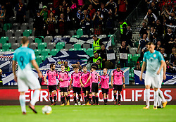 Players of Scotland celebrate after Leigh Griffiths of Scotland scored first goal during football match between National Teams of Slovenia and Scotland of Fifa 2018 World Cup European qualifiers, on October 8, 2017 in SRC Stozice, Ljubljana, Slovenia. Photo by Vid Ponikvar / Sportida