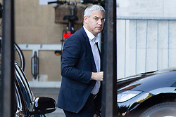 © Licensed to London News Pictures. 05/09/2019. London, UK. Secretary of State for Exiting the European Union Stephen Barclay arrives in Parliament. Later Today Prime Minister Boris Johnson will travel to Yorkshire to make a speech. Photo credit: George Cracknell Wright/LNP
