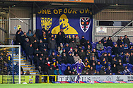 Banner in tribute to 'Salad' who was a AFC Wimbledon fan during the EFL Sky Bet League 1 match between AFC Wimbledon and Peterborough United at the Cherry Red Records Stadium, Kingston, England on 12 March 2019.