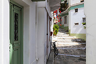 Qute colorful street in Milos island