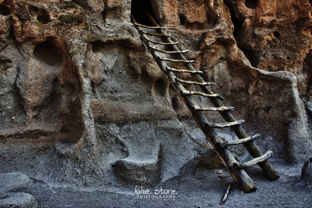 A traditional handcrafted ladder at the entrance to the cliff dwellings used by Ancestral Pueblo peoples in the southwest represents a footprint of human presence.<br /> <br /> Wall art is available in metal, canvas, float wrap and standout. Art prints are available in lustre, glossy, matte and metallic finishes.
