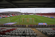General View of The Lamex Stadium during the EFL Sky Bet League 2 match between Stevenage and Carlisle United at the Lamex Stadium, Stevenage, England on 20 March 2021.