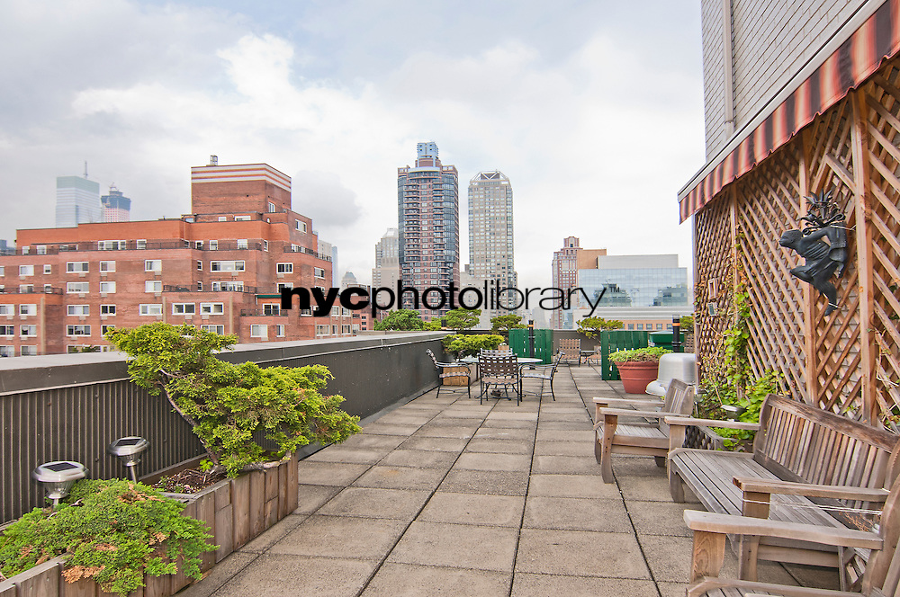 Roof Deck at 401 East 65th Street