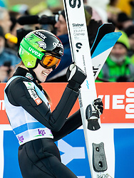Ursa Bogataj of Slovenia reacts during 2nd Round at Day 1 of World Cup Ski Jumping Ladies Ljubno 2019, on February 8, 2019 in Ljubno ob Savinji, Slovenia. Photo by Matic Ritonja / Sportida