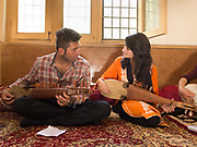 Students teach each others. At the Bulbulik music school in Gulmit village, upper Hunza.