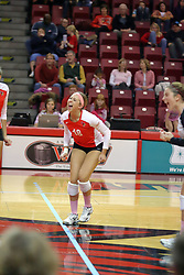 29 October 2011: Kaitlyn Early celebrates During a match between the Creighton Bluejays and the Illinois State Redbirds at Redbird Arena in Normal Illinois