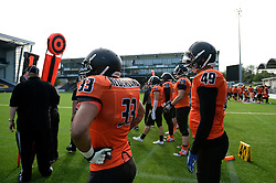 Netherland players look on as they take on Russia in the IFAF European Championships hosted at the Sixways Stadium - Photo mandatory by-line: Dougie Allward/JMP - 18/09/2016 - American Football - Sixways Stadium - Worcester, England - Netherlands v Russia - IFAF European Championship