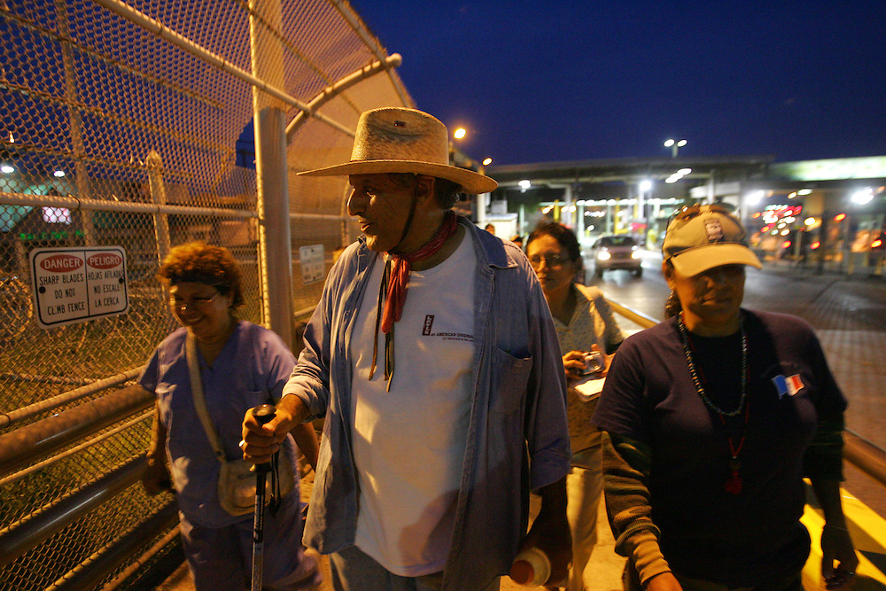 """Jay Johnson Castro takes a celebratory trip into Matamoros, Mexico in search of """"a good margarita"""" after the successful completion of his protest walk."""