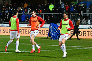 Middlesbrough players warming up before the The FA Cup match between Newport County and Middlesbrough at Rodney Parade, Newport, Wales on 5 February 2019.