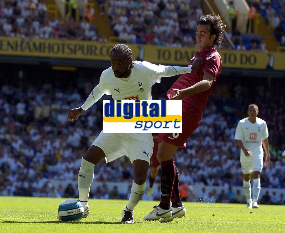 Photo: Olly Greenwood.<br />Tottenham Hotspur v Torino. Pre Season Friendly. 04/08/2007. Spurs Pascal Chimbonda and Simone Barone