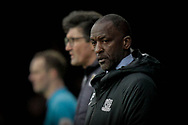 Southend United manager Chris Powell, Luton Town Interim Manager Mick Harford, during the EFL Sky Bet League 1 match between Southend United and Luton Town at Roots Hall, Southend, England on 26 January 2019.